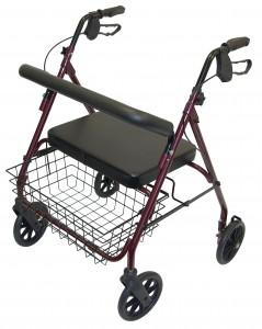 4 wheel heavy duty walker